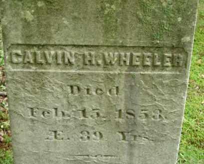WHEELER, CALVIN H - Hampden County, Massachusetts | CALVIN H WHEELER - Massachusetts Gravestone Photos