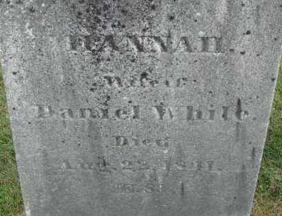WHITE, HANNAH - Hampden County, Massachusetts | HANNAH WHITE - Massachusetts Gravestone Photos