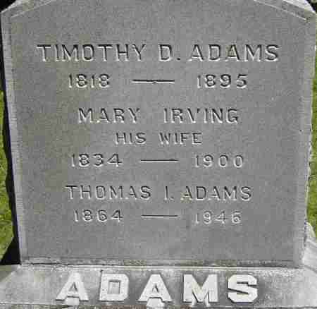 ADAMS, MARY - Middlesex County, Massachusetts | MARY ADAMS - Massachusetts Gravestone Photos