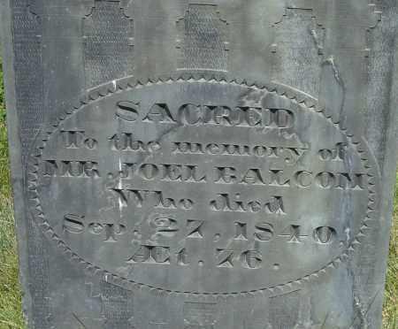 BALCOM, JOEL - Middlesex County, Massachusetts | JOEL BALCOM - Massachusetts Gravestone Photos