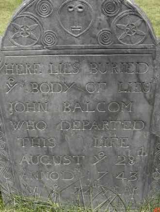 BALCOM, JOHN - Middlesex County, Massachusetts | JOHN BALCOM - Massachusetts Gravestone Photos