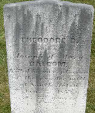 BALCOM, THEODORE D - Middlesex County, Massachusetts | THEODORE D BALCOM - Massachusetts Gravestone Photos