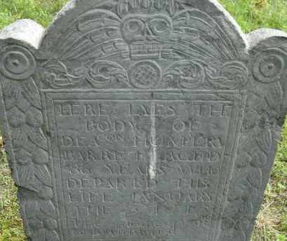 BARRET, HUMPERY - Middlesex County, Massachusetts | HUMPERY BARRET - Massachusetts Gravestone Photos