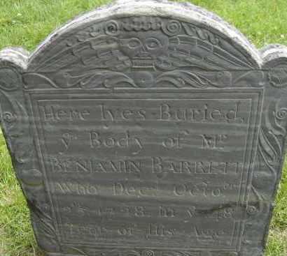 BARRETT, BENJAMIN - Middlesex County, Massachusetts   BENJAMIN BARRETT - Massachusetts Gravestone Photos