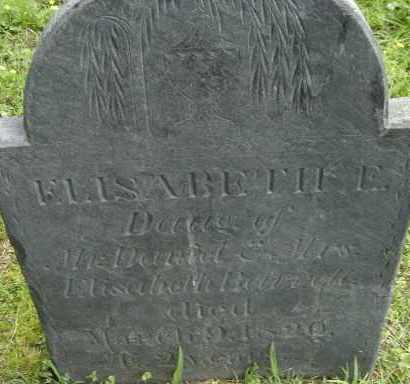 BARRETT, ELISABETH E - Middlesex County, Massachusetts | ELISABETH E BARRETT - Massachusetts Gravestone Photos