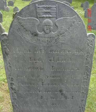 BARRETT, HUMPHRY - Middlesex County, Massachusetts | HUMPHRY BARRETT - Massachusetts Gravestone Photos