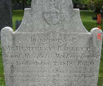 BARRETT, HUMPHREY - Middlesex County, Massachusetts   HUMPHREY BARRETT - Massachusetts Gravestone Photos