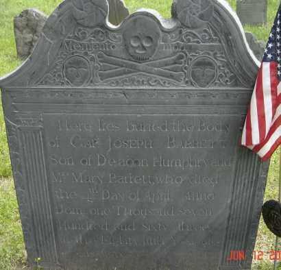 BARRETT, JOSEPH - Middlesex County, Massachusetts | JOSEPH BARRETT - Massachusetts Gravestone Photos