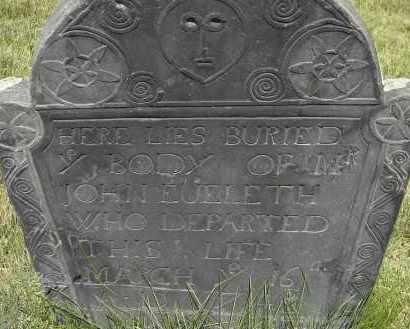 EUELETH, JOHN - Middlesex County, Massachusetts | JOHN EUELETH - Massachusetts Gravestone Photos