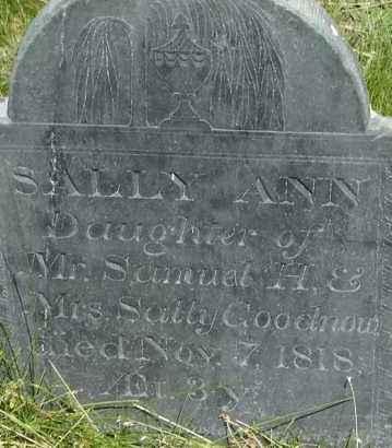 GOODNOW, SALLY ANN - Middlesex County, Massachusetts | SALLY ANN GOODNOW - Massachusetts Gravestone Photos