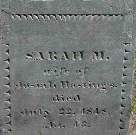 HASTINGS, SARAH M - Middlesex County, Massachusetts | SARAH M HASTINGS - Massachusetts Gravestone Photos