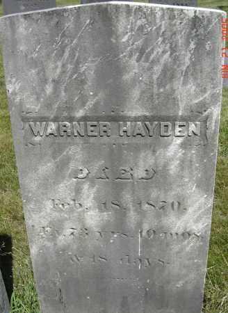 HAYDEN, WARNER - Middlesex County, Massachusetts   WARNER HAYDEN - Massachusetts Gravestone Photos