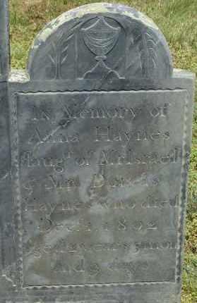 HAYNES, ANNA - Middlesex County, Massachusetts   ANNA HAYNES - Massachusetts Gravestone Photos
