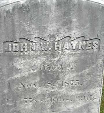 HAYNES, JOHN W - Middlesex County, Massachusetts | JOHN W HAYNES - Massachusetts Gravestone Photos