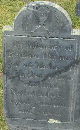 HAYNES, REUBEN - Middlesex County, Massachusetts | REUBEN HAYNES - Massachusetts Gravestone Photos