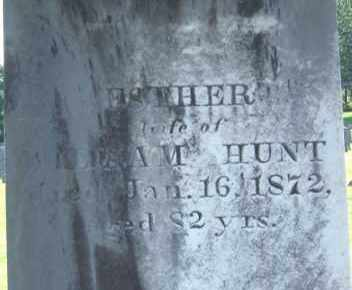 HUNT, ESTHER - Middlesex County, Massachusetts | ESTHER HUNT - Massachusetts Gravestone Photos