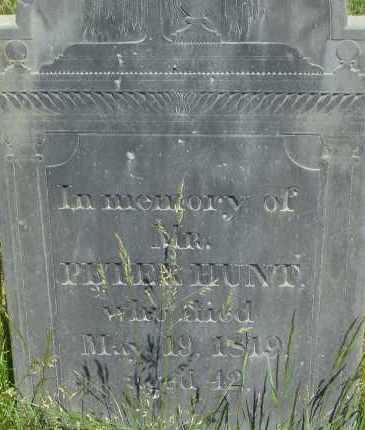HUNT, PETER - Middlesex County, Massachusetts | PETER HUNT - Massachusetts Gravestone Photos