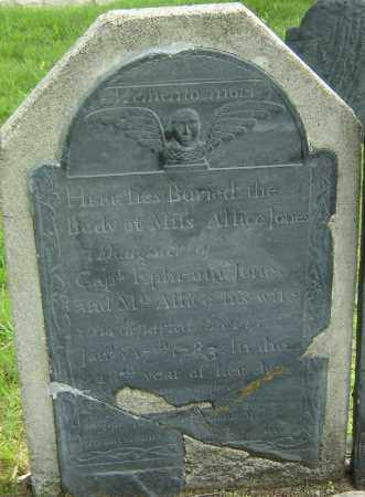 JONES, ALLICE - Middlesex County, Massachusetts | ALLICE JONES - Massachusetts Gravestone Photos
