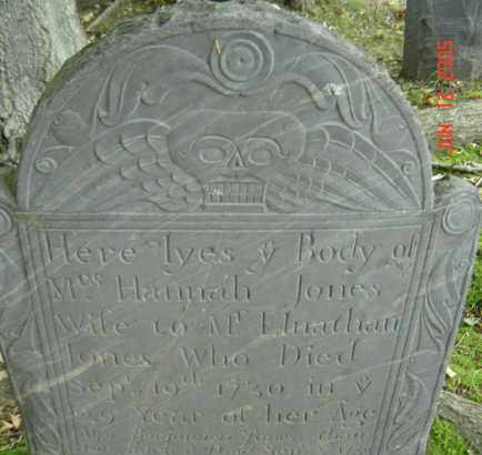 JONES, HANNAH - Middlesex County, Massachusetts | HANNAH JONES - Massachusetts Gravestone Photos