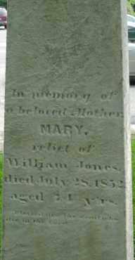 JONES, MARY - Middlesex County, Massachusetts   MARY JONES - Massachusetts Gravestone Photos