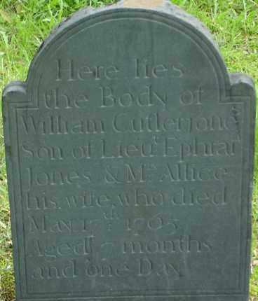 JONES, WILLIAM CUTLER - Middlesex County, Massachusetts | WILLIAM CUTLER JONES - Massachusetts Gravestone Photos