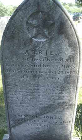 KENDALL, ABBIE - Middlesex County, Massachusetts | ABBIE KENDALL - Massachusetts Gravestone Photos