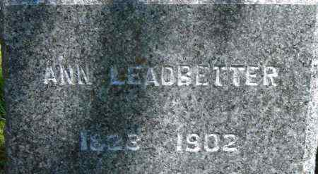 LEADBETTER, ANN - Middlesex County, Massachusetts | ANN LEADBETTER - Massachusetts Gravestone Photos