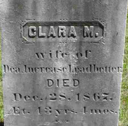 LEADBETTER, CLARA M - Middlesex County, Massachusetts | CLARA M LEADBETTER - Massachusetts Gravestone Photos