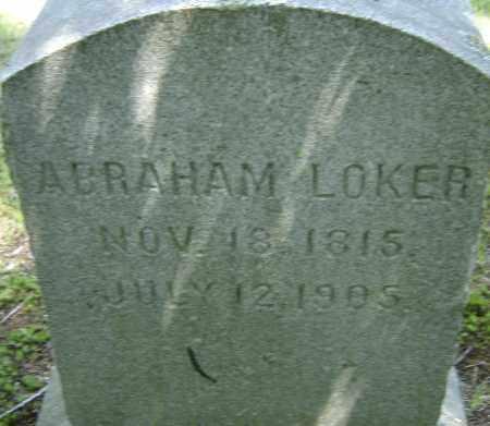 LOKER, ABRAHAM - Middlesex County, Massachusetts | ABRAHAM LOKER - Massachusetts Gravestone Photos
