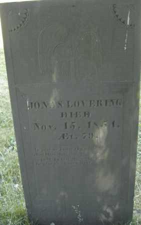 LOVERING, JONAS - Middlesex County, Massachusetts | JONAS LOVERING - Massachusetts Gravestone Photos