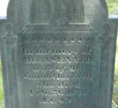 LOVEWELL, ASENATH - Middlesex County, Massachusetts | ASENATH LOVEWELL - Massachusetts Gravestone Photos