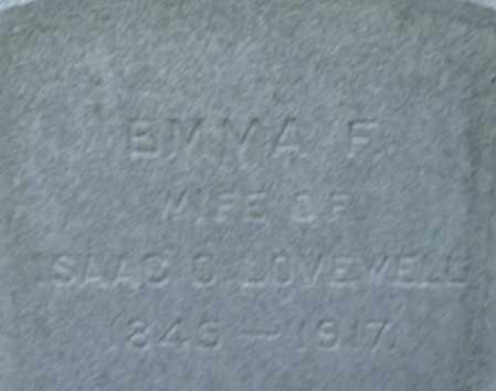 LOVEWELL, EMMA F - Middlesex County, Massachusetts | EMMA F LOVEWELL - Massachusetts Gravestone Photos