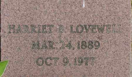 LOVEWELL, HARRIET B - Middlesex County, Massachusetts | HARRIET B LOVEWELL - Massachusetts Gravestone Photos