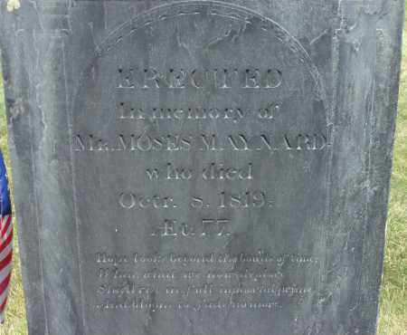 MAYNARD, MOSES - Middlesex County, Massachusetts | MOSES MAYNARD - Massachusetts Gravestone Photos