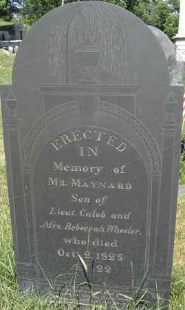 MAYNARD, MR - Middlesex County, Massachusetts | MR MAYNARD - Massachusetts Gravestone Photos