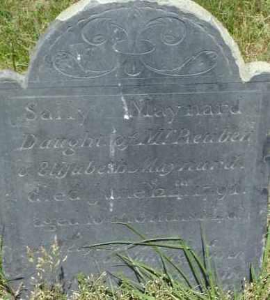 MAYNARD, SALLY - Middlesex County, Massachusetts | SALLY MAYNARD - Massachusetts Gravestone Photos