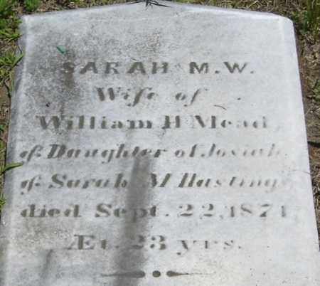 HASTINGS MEAD, SARAH M W - Middlesex County, Massachusetts | SARAH M W HASTINGS MEAD - Massachusetts Gravestone Photos