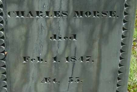 MORSE, CHARLES - Middlesex County, Massachusetts | CHARLES MORSE - Massachusetts Gravestone Photos