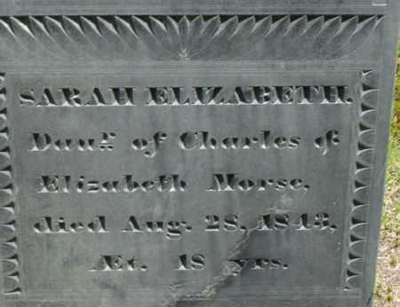 MORSE, SARAH ELIZABETH - Middlesex County, Massachusetts   SARAH ELIZABETH MORSE - Massachusetts Gravestone Photos