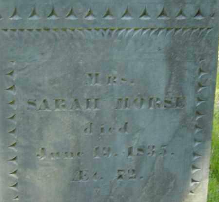 MORSE, SARAH - Middlesex County, Massachusetts | SARAH MORSE - Massachusetts Gravestone Photos