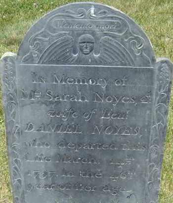 NOYES, SARAH - Middlesex County, Massachusetts | SARAH NOYES - Massachusetts Gravestone Photos