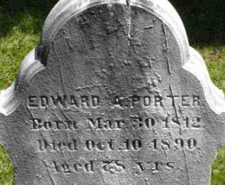 PORTER, EDWARD A - Middlesex County, Massachusetts | EDWARD A PORTER - Massachusetts Gravestone Photos