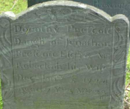 PRESCOTT, DOROTHY - Middlesex County, Massachusetts   DOROTHY PRESCOTT - Massachusetts Gravestone Photos