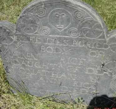 RICE, ANN - Middlesex County, Massachusetts | ANN RICE - Massachusetts Gravestone Photos
