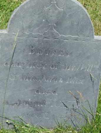 RICE, BETSEY - Middlesex County, Massachusetts | BETSEY RICE - Massachusetts Gravestone Photos