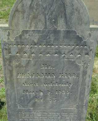 RICE, BENJAMIN - Middlesex County, Massachusetts | BENJAMIN RICE - Massachusetts Gravestone Photos
