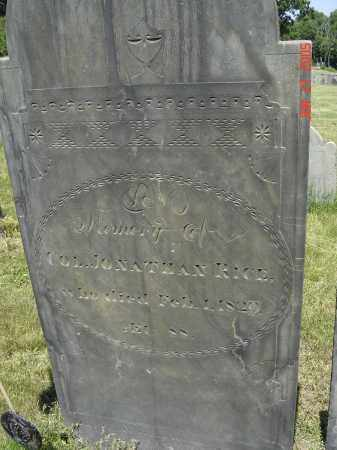 RICE (RW), JONATHAN - Middlesex County, Massachusetts | JONATHAN RICE (RW) - Massachusetts Gravestone Photos