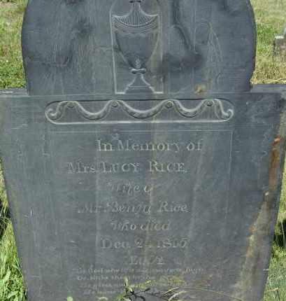 RICE, LUCY - Middlesex County, Massachusetts | LUCY RICE - Massachusetts Gravestone Photos