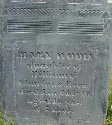 RICE, MARY WOOD - Middlesex County, Massachusetts | MARY WOOD RICE - Massachusetts Gravestone Photos