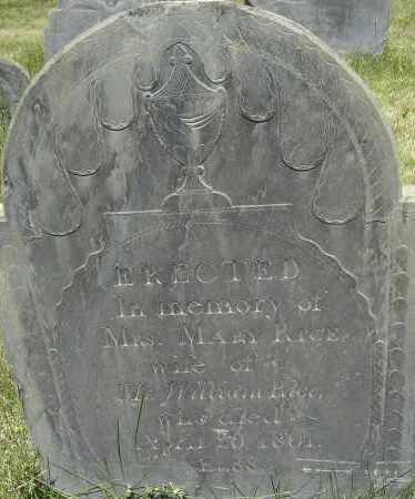 RICE, MARY - Middlesex County, Massachusetts | MARY RICE - Massachusetts Gravestone Photos
